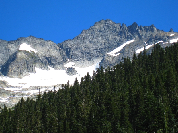 Photo of the approach to Forbidden Peak in North Cascades National Park