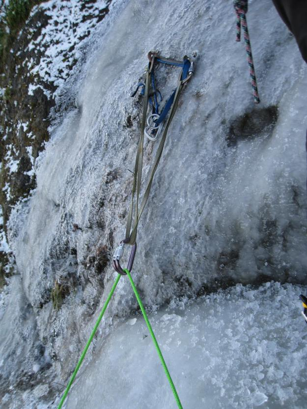 Jive-Ass Sliding-X Top Rope Ice Climbing Anchor
