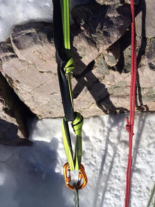 Jive-Ass Top Rope Anchor in Ouray Ice Park