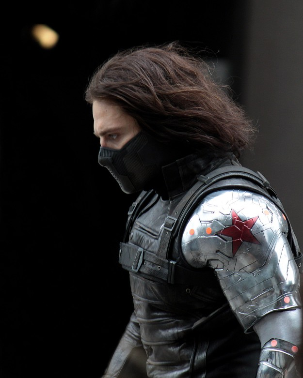 The Winter Soldier has unorthodox rappelling techniques.